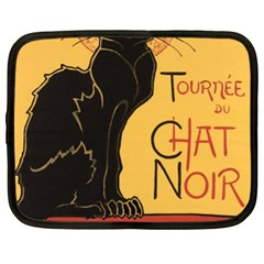 Black cat Netbook Case (XL)
