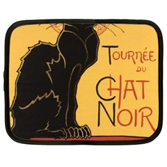 Black cat Netbook Case (XXL)