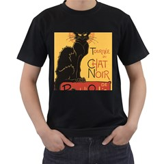 Black cat Men s T-Shirt (Black)