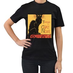 Black cat Women s T-Shirt (Black)