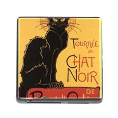 Black cat Memory Card Reader (Square)