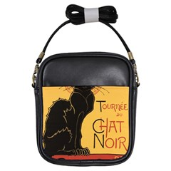 Black cat Girls Sling Bags