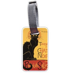 Black cat Luggage Tags (One Side)