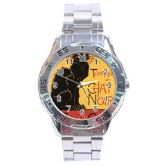 Black cat Stainless Steel Analogue Watch