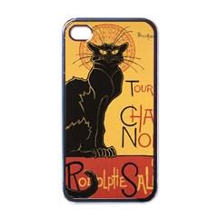 Black cat Apple iPhone 4 Case (Black)