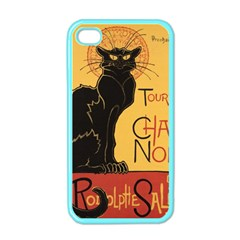 Black cat Apple iPhone 4 Case (Color)