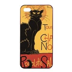 Black cat Apple iPhone 4/4s Seamless Case (Black)