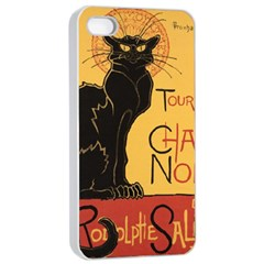 Black cat Apple iPhone 4/4s Seamless Case (White)