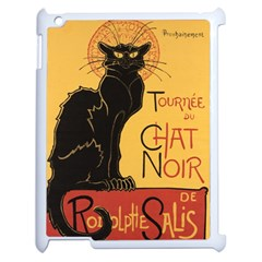 Black cat Apple iPad 2 Case (White)