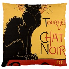 Black cat Large Cushion Case (Two Sides)