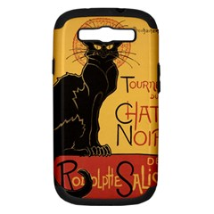 Black cat Samsung Galaxy S III Hardshell Case (PC+Silicone)