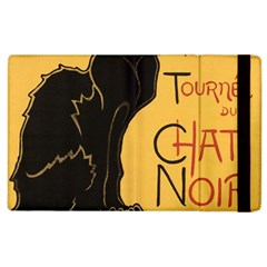Black cat Apple iPad 3/4 Flip Case
