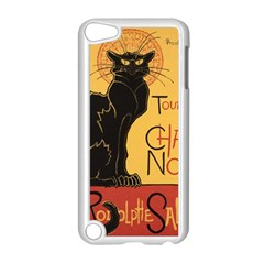 Black cat Apple iPod Touch 5 Case (White)