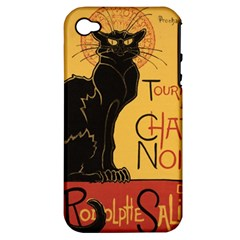 Black cat Apple iPhone 4/4S Hardshell Case (PC+Silicone)