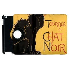 Black cat Apple iPad 2 Flip 360 Case