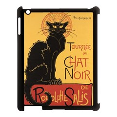 Black cat Apple iPad 3/4 Case (Black)