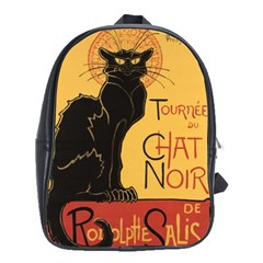 Black cat School Bags (XL)