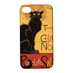 Black cat Apple iPhone 4/4S Hardshell Case with Stand