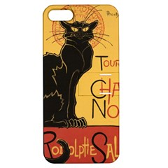 Black cat Apple iPhone 5 Hardshell Case with Stand