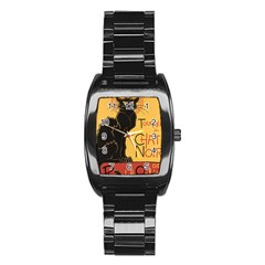Black cat Stainless Steel Barrel Watch
