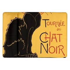 Black cat Samsung Galaxy Tab 10.1  P7500 Flip Case