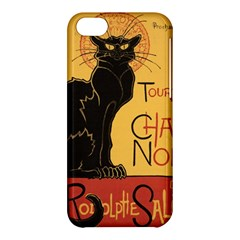Black cat Apple iPhone 5C Hardshell Case