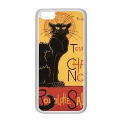 Black cat Apple iPhone 5C Seamless Case (White)