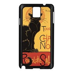 Black cat Samsung Galaxy Note 3 N9005 Case (Black)
