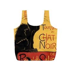 Black cat Full Print Recycle Bags (S)