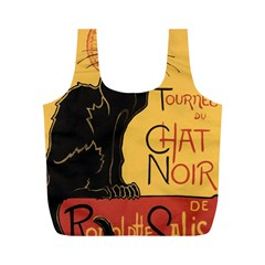 Black cat Full Print Recycle Bags (M)