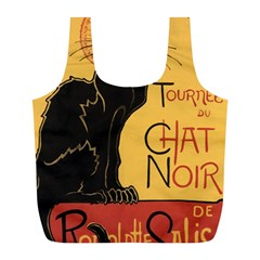 Black cat Full Print Recycle Bags (L)