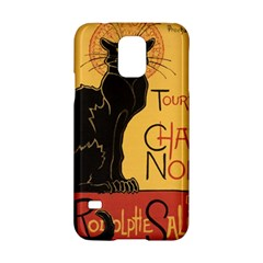 Black cat Samsung Galaxy S5 Hardshell Case