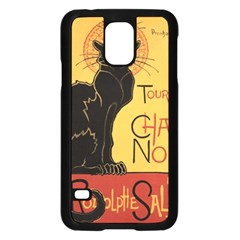 Black cat Samsung Galaxy S5 Case (Black)