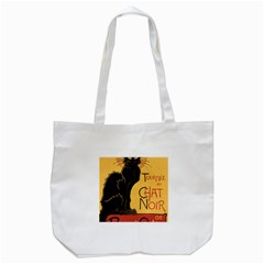 Black cat Tote Bag (White)