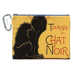 Black cat Canvas Cosmetic Bag (XXL)