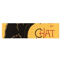 Black cat Satin Scarf (Oblong)
