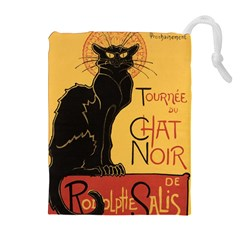 Black cat Drawstring Pouches (Extra Large)