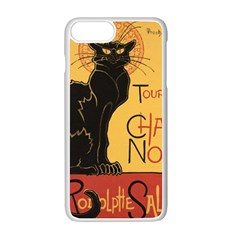 Black cat Apple iPhone 7 Plus White Seamless Case