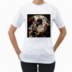 Dalmatian Liver Women s T-Shirt (White) (Two Sided)