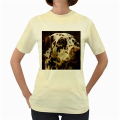 Dalmatian Liver Women s Yellow T-Shirt