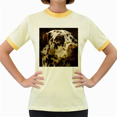 Dalmatian Liver Women s Fitted Ringer T-Shirts