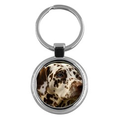 Dalmatian Liver Key Chains (Round)