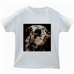 Dalmatian Liver Kids White T-Shirts