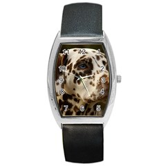 Dalmatian Liver Barrel Style Metal Watch