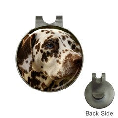 Dalmatian Liver Hat Clips with Golf Markers