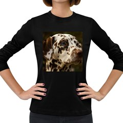 Dalmatian Liver Women s Long Sleeve Dark T-Shirts