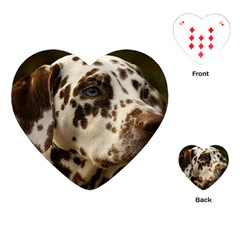 Dalmatian Liver Playing Cards (Heart)