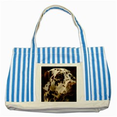 Dalmatian Liver Striped Blue Tote Bag