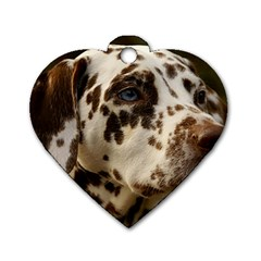 Dalmatian Liver Dog Tag Heart (Two Sides)