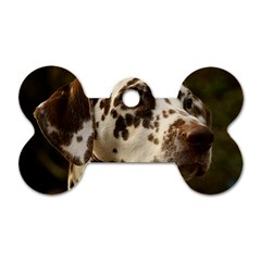 Dalmatian Liver Dog Tag Bone (Two Sides)